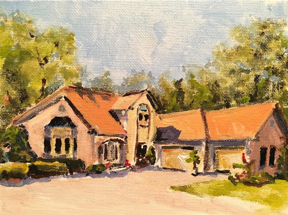 """Chez Martin"" original fine art by Susan Elizabeth Jones"