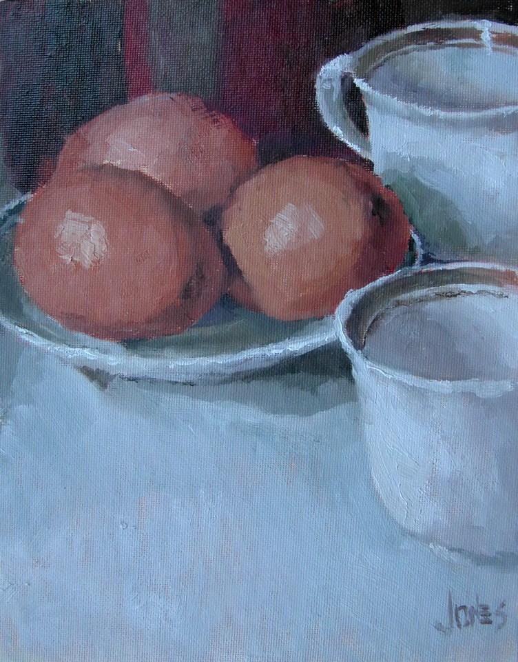 """Brown Eggs"" original fine art by Richard Jones"