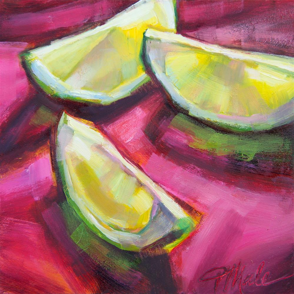 """Margarita Limes"" original fine art by Tracy Male"
