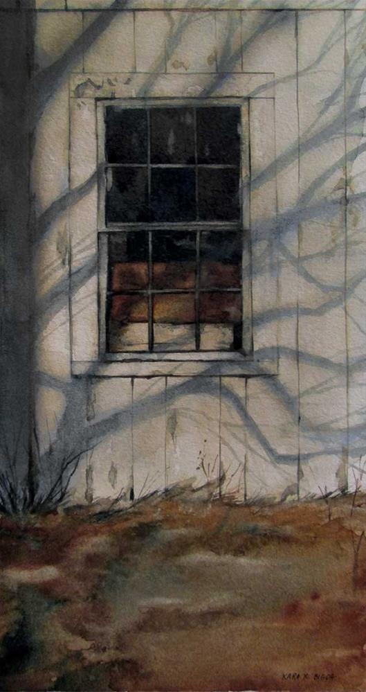 """Window Shadows"" original fine art by Kara K. Bigda"