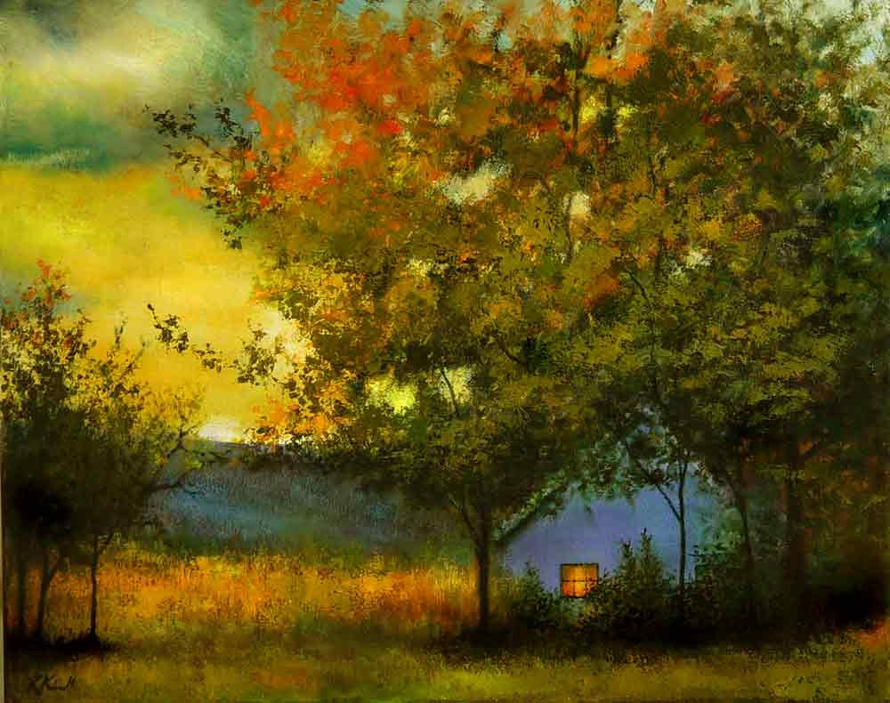 """Evening Glow"" original fine art by Bob Kimball"