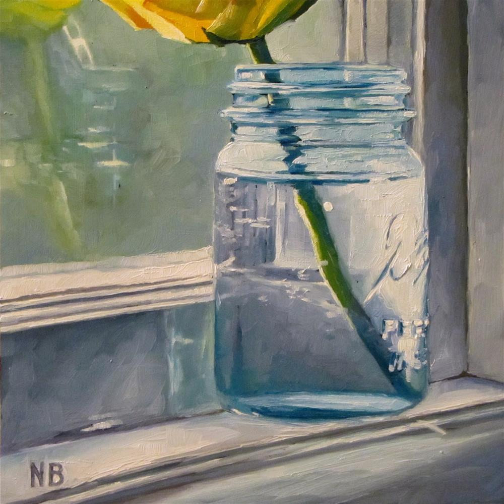 """Jar on Sill"" original fine art by Nora Bergman"