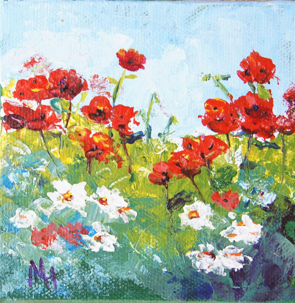 """Spring Poppies"" original fine art by Marion Hedger"