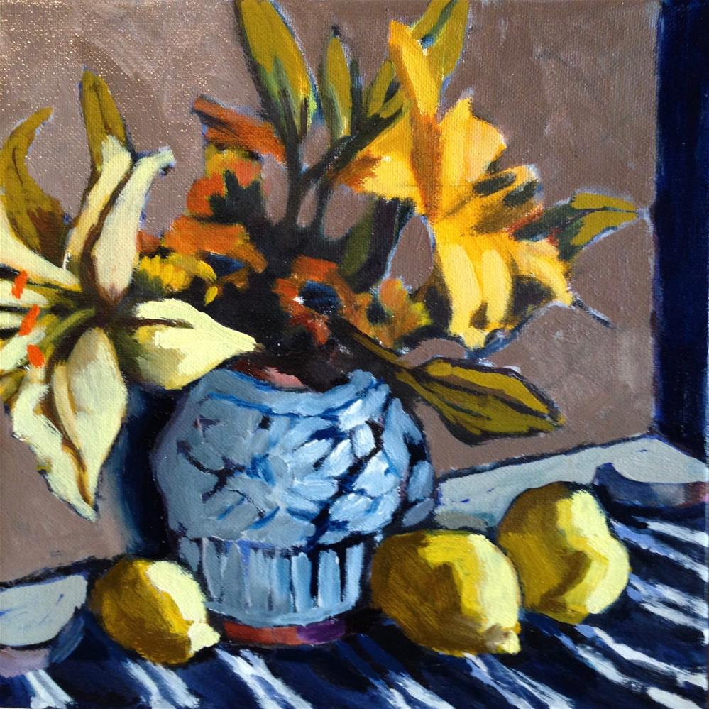"""When Life Hands You Lemons, Make Lemoncello!"" original fine art by Pamela Hoffmeister"
