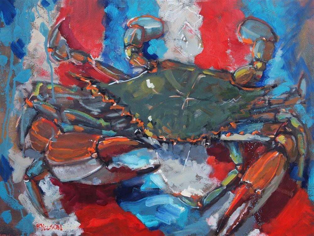 """National Crab"" original fine art by Rick Nilson"
