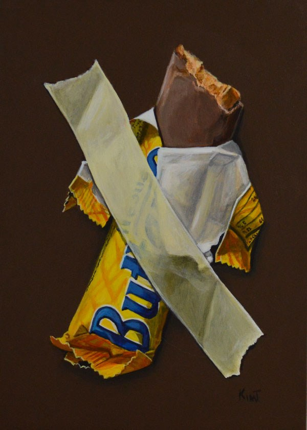"""In Case of Chocolate Emergency 9"" original fine art by Kim Testone"