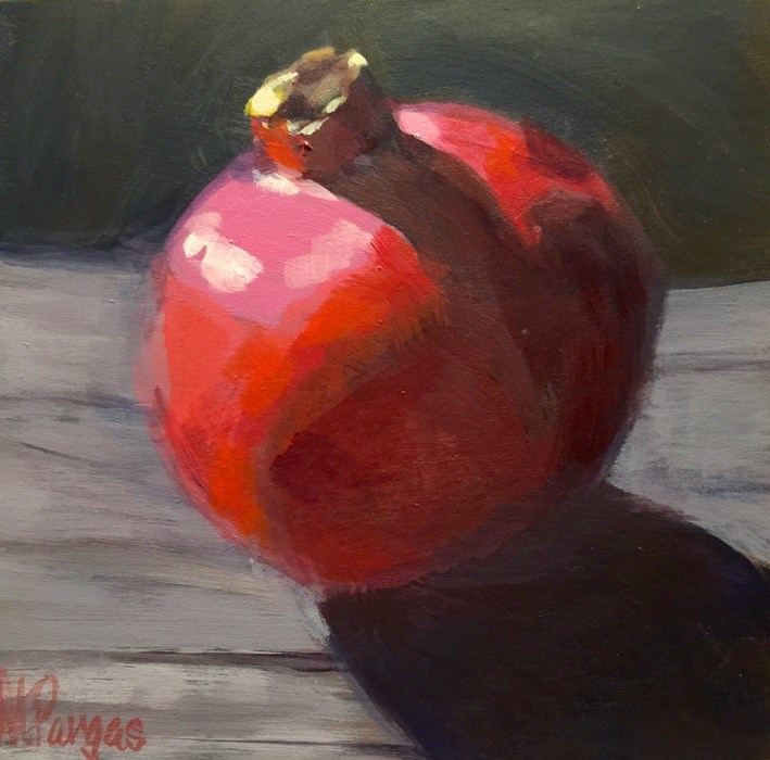 """Pomegranate, Late Afternoon"" original fine art by Mary Pargas"