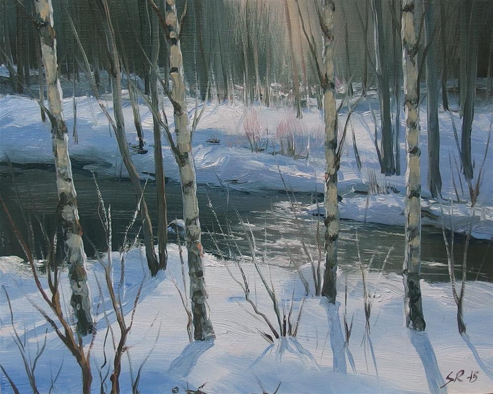"""Winterglory"" original fine art by Stig Rosenlund"