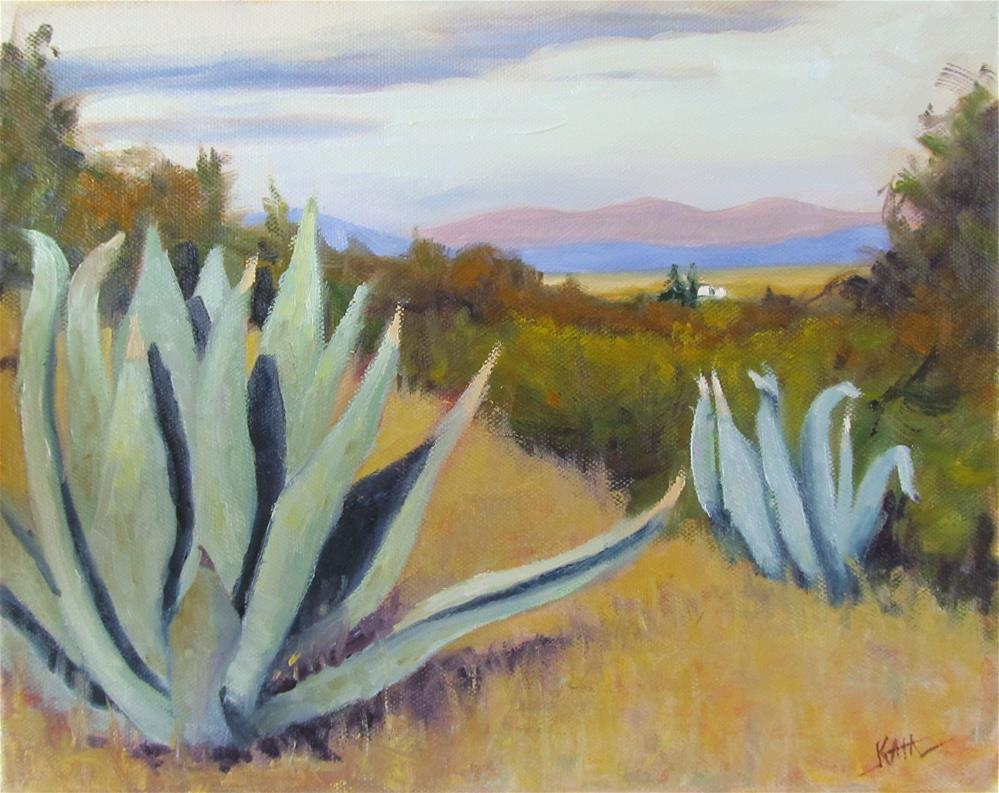 """North View with Agave"" original fine art by Kaia Thomas"