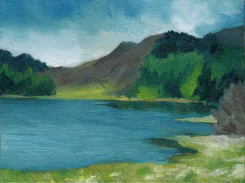 """Scottish Landscape II"" original fine art by J M Needham"