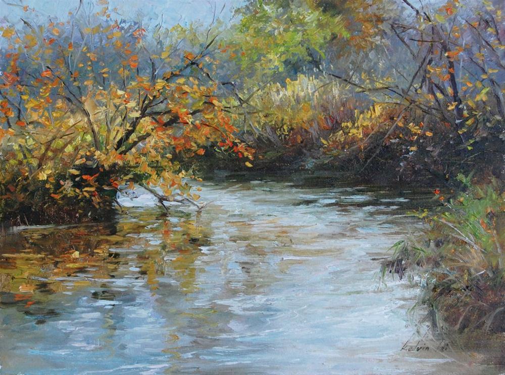 River Turning original fine art by Kelvin Lei