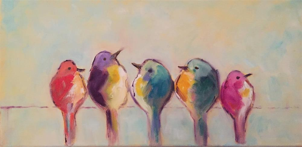 """Feathered Friends"" original fine art by Gayle Lambeth"