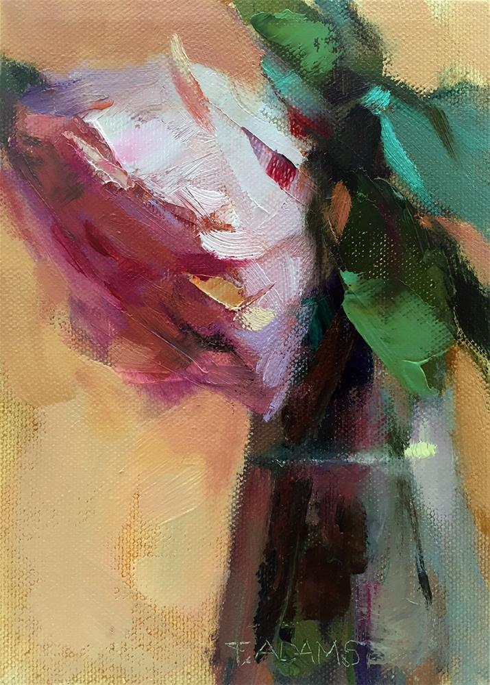 """Pink Rose"" original fine art by Trisha Adams"