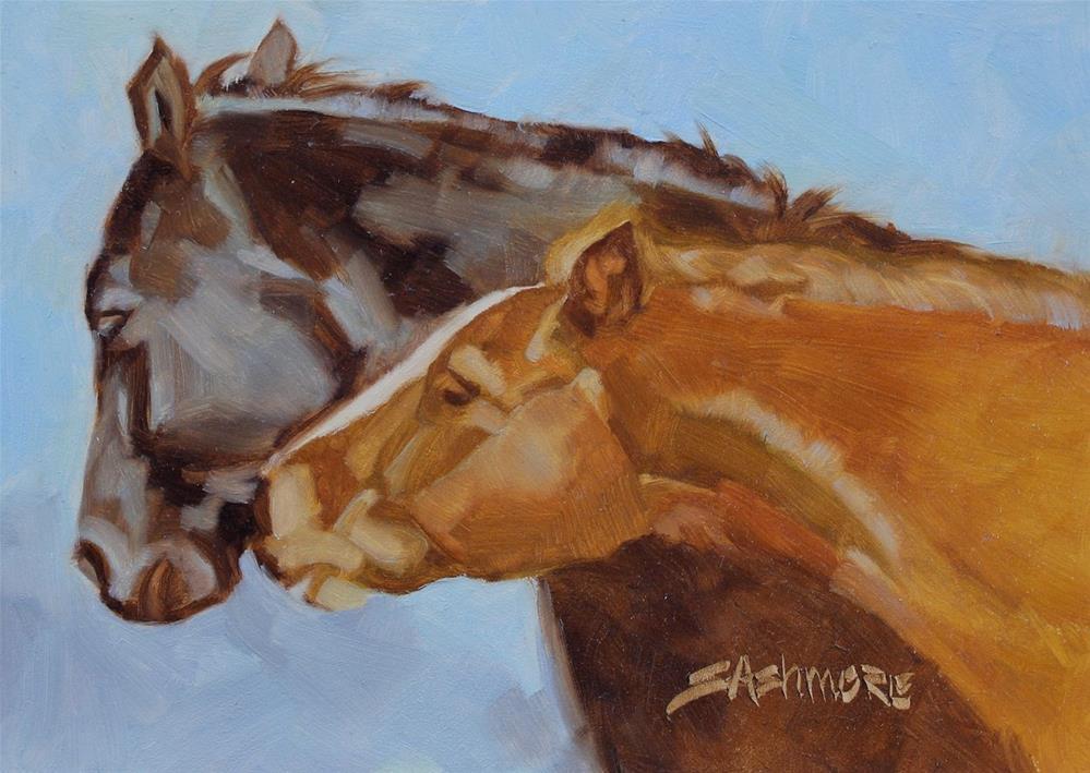 """""""FriendsIV"""" original fine art by Susan Ashmore"""