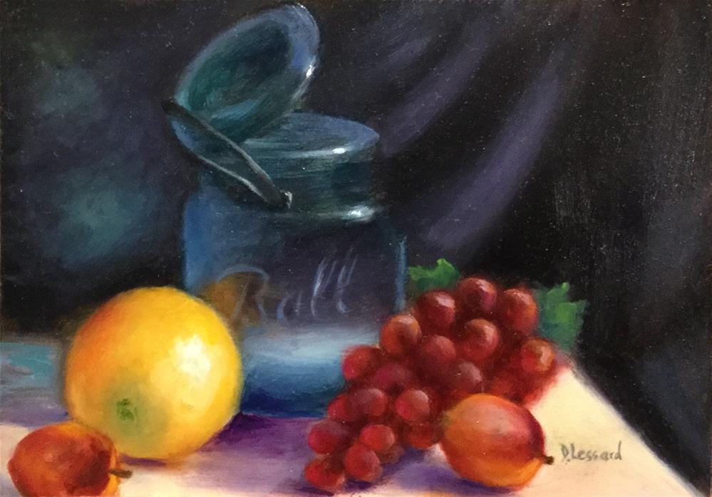 """""""Fruitful #1603"""" original fine art by Dee Lessard"""