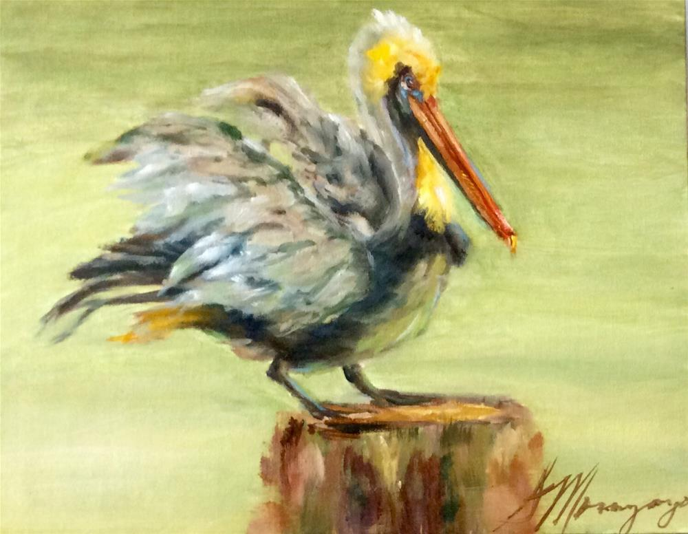 """Mr. P"" original fine art by Susie Monzingo"