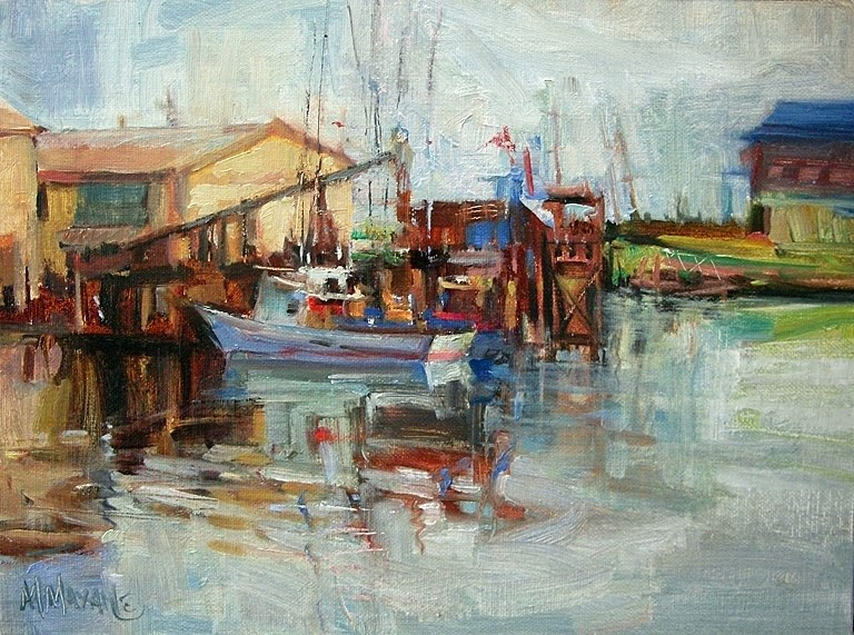 """Westport Docks"" original fine art by Mary Maxam"