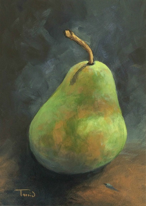 """Pear Study 1"" original fine art by Torrie Smiley"