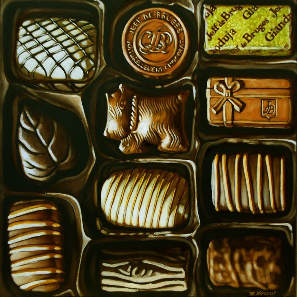 """Belgian Chocolates"" original fine art by Margaret Horvat"