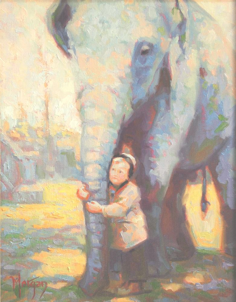 """Zoo Memories"" original fine art by Cecile W. Morgan"