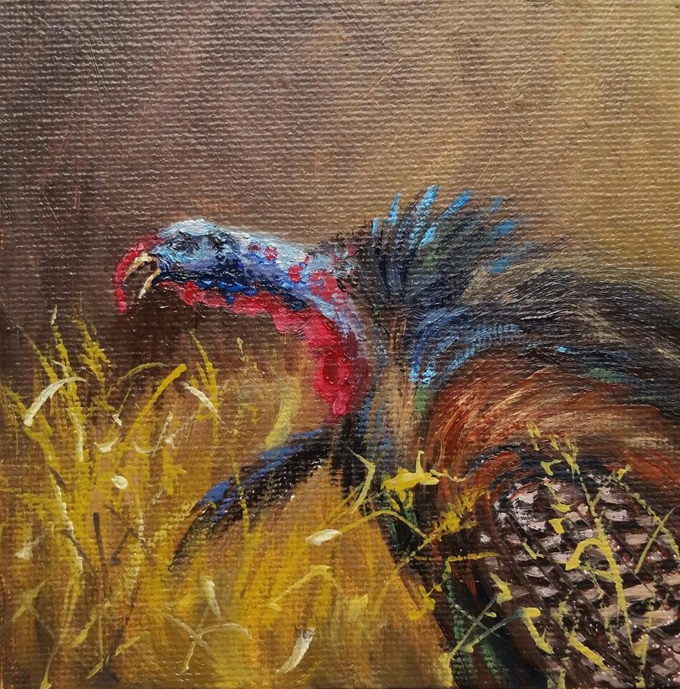 """Bird of Fall-mini painting"" original fine art by Veronica Brown"