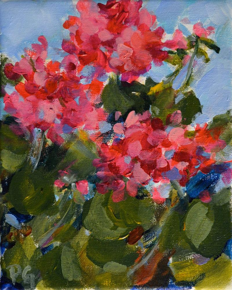 """Ruby Bloomers"" original fine art by Pamela Gatens"