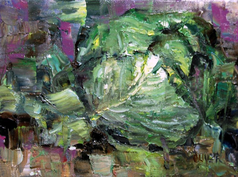 """""""Cabbage"""" original fine art by Julie Ford Oliver"""