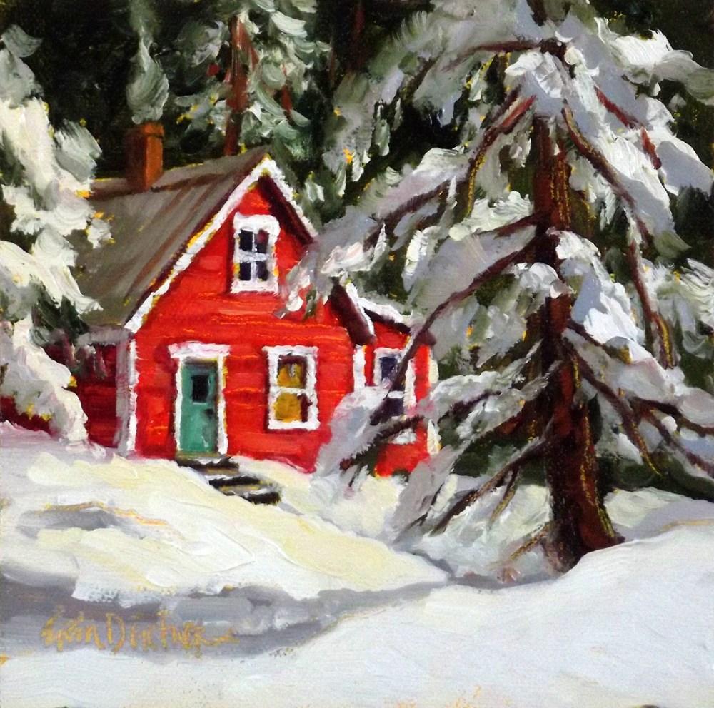 """""""Winter Wonderland"""" original fine art by Erin Dertner"""