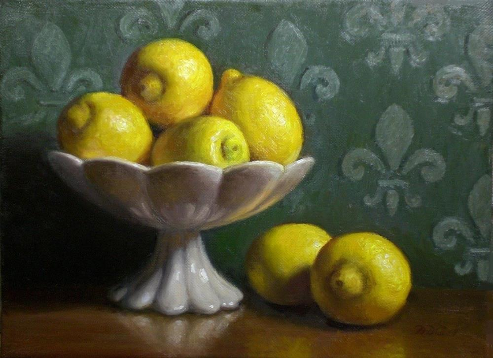 """A Bowl of Lemons"" original fine art by Debra Becks Cooper"