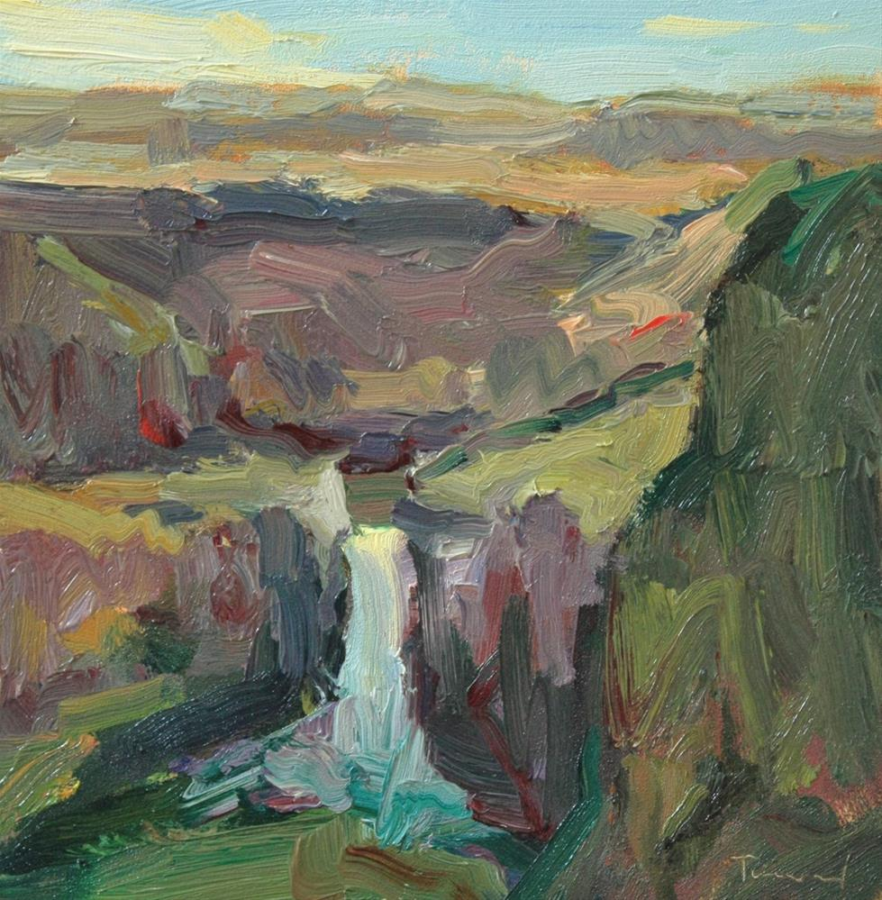 """Palouse Falls"" original fine art by Kathryn Townsend"