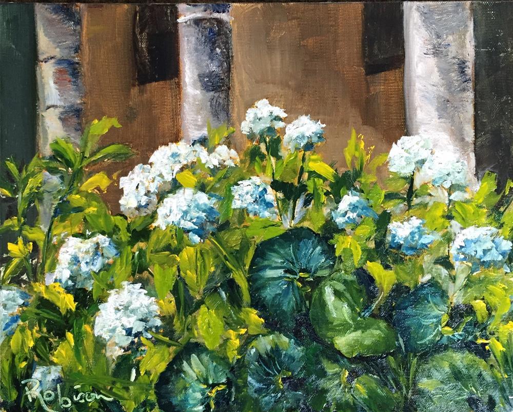 """Monastery Garden"" original fine art by Renee Robison"