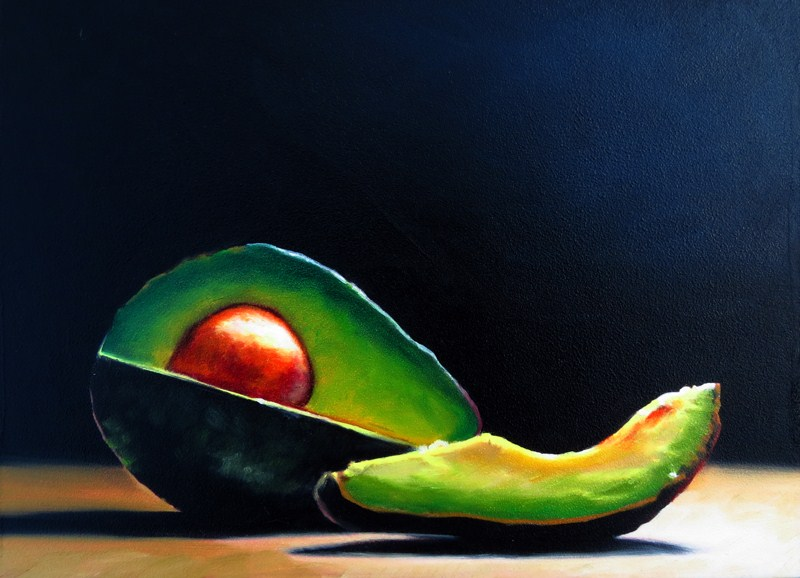 """Avocado Slice"" original fine art by Lauren Pretorius"
