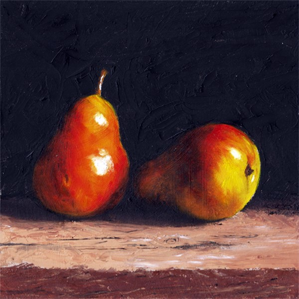 """Blushing pears"" original fine art by Peter J Sandford"
