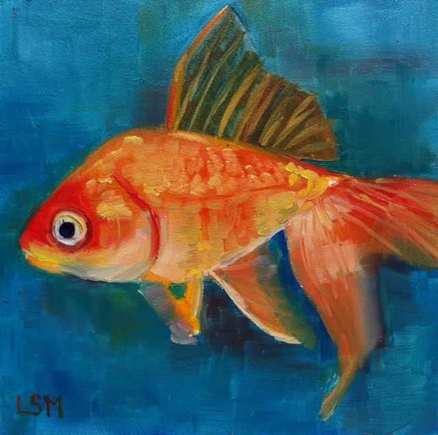 """Gold Fish - Gold Coast"" original fine art by Linda Marino"