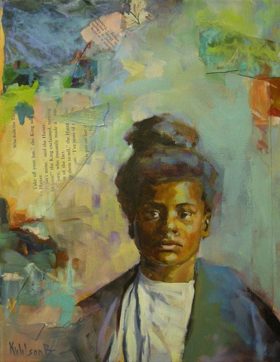 """A Lot on Her Mind"" original fine art by Katie Wilson"