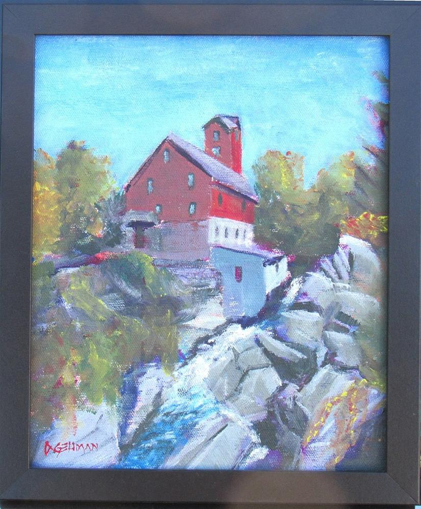 """Red Mill, Jericho Vermont"" original fine art by Dave Gehman"