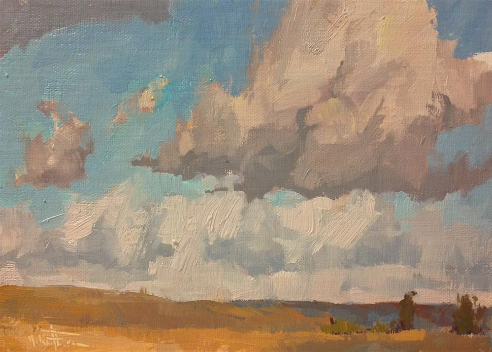 """Wheat and Sky"" original fine art by Melanie Thompson"