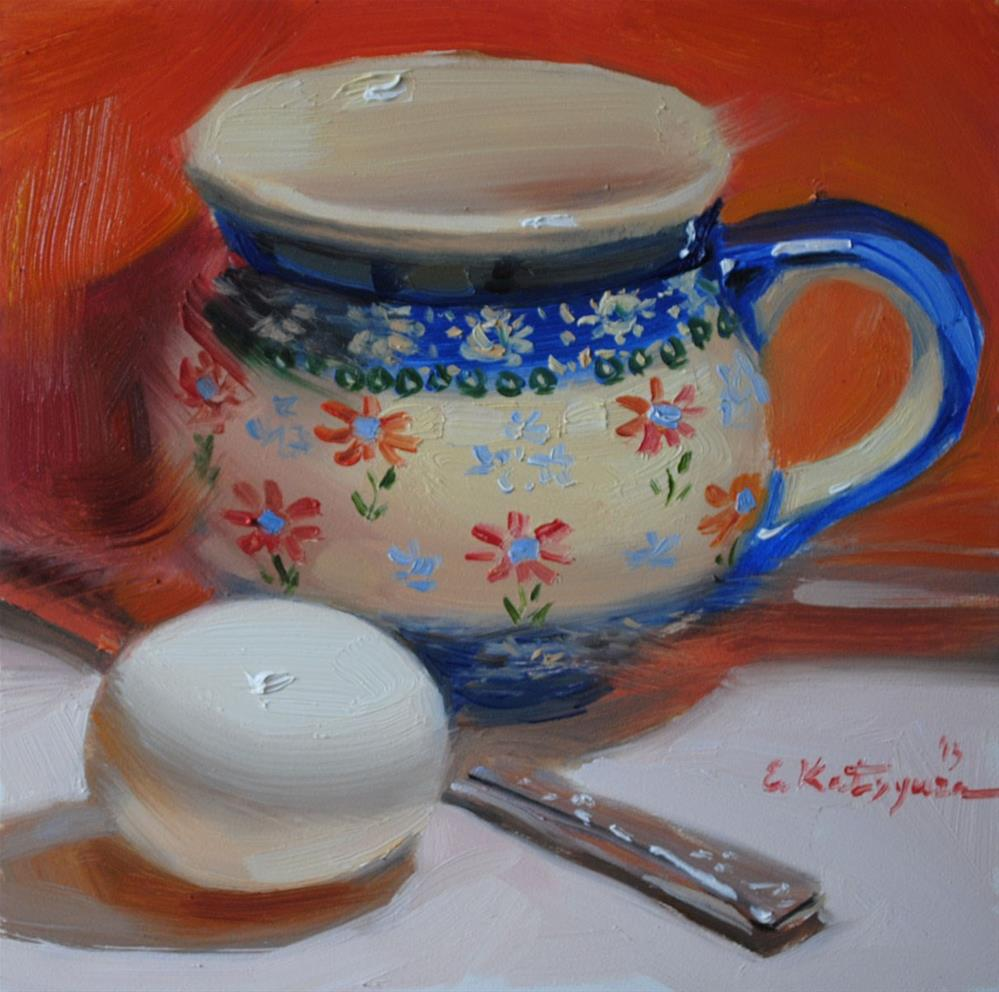 """Egg and Jug"" original fine art by Elena Katsyura"