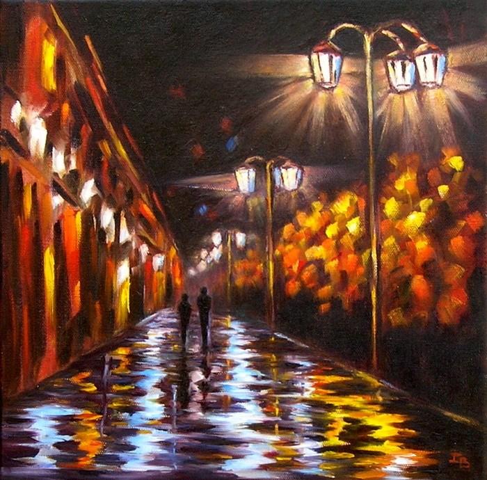 """Night"" original fine art by Irina Beskina"