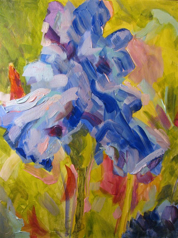 """Milky Way Farm Iris (study)"" original fine art by Susan Elizabeth Jones"