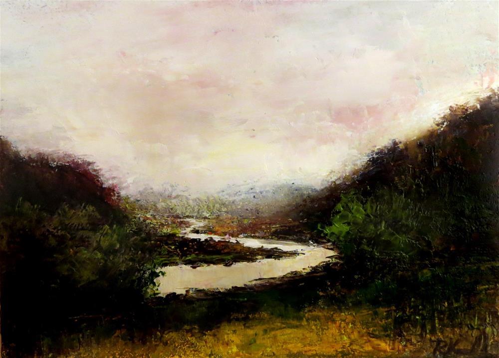 """Wild Mountain River"" original fine art by Bob Kimball"