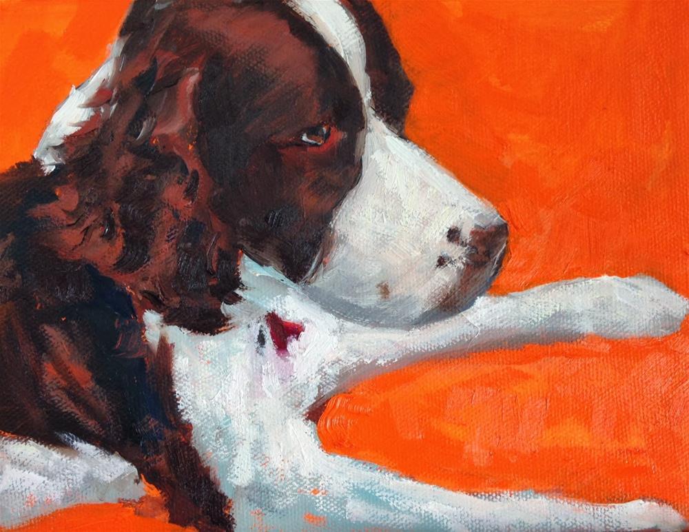 """Pretty Girl, 6x8 Inch Oil Painting by Kelley MacDonald"" original fine art by Kelley MacDonald"