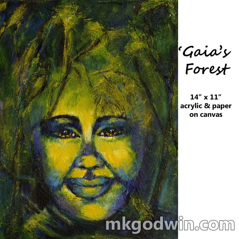 """Gaia's Forest"" original fine art by Marie K Godwin"