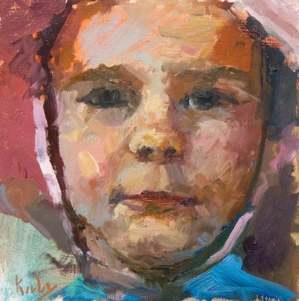 """Button Face"" original fine art by Randall Cogburn"