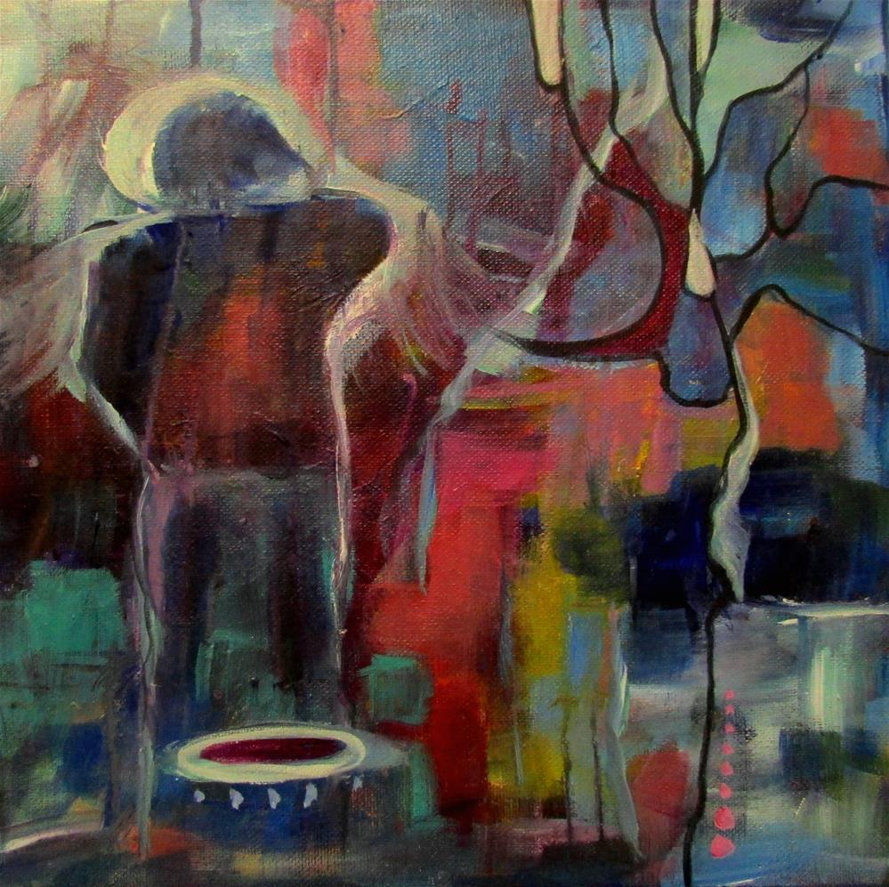 """12 x 12 inch acrylic Discovery #2"" original fine art by Linda Yurgensen"