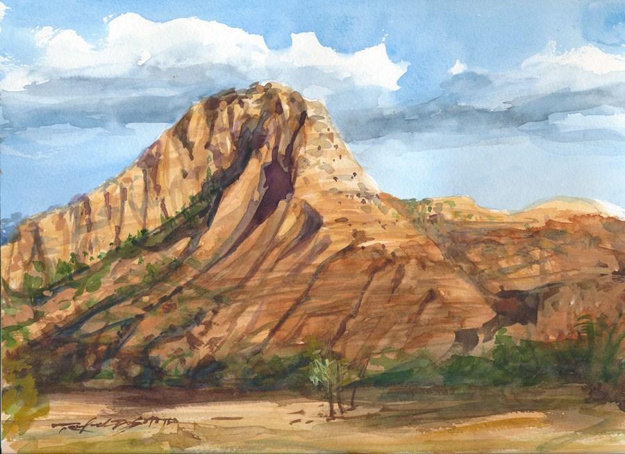 """""""Kolobs at Zion"""" original fine art by Rafael DeSoto Jr."""