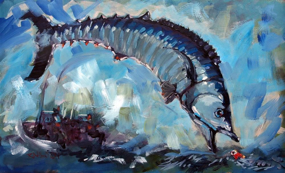 """High Anxiety"" original fine art by Rick Nilson"