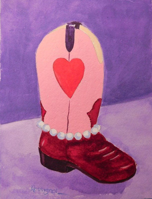 """Party Girl"" original fine art by Norm Rossignol"