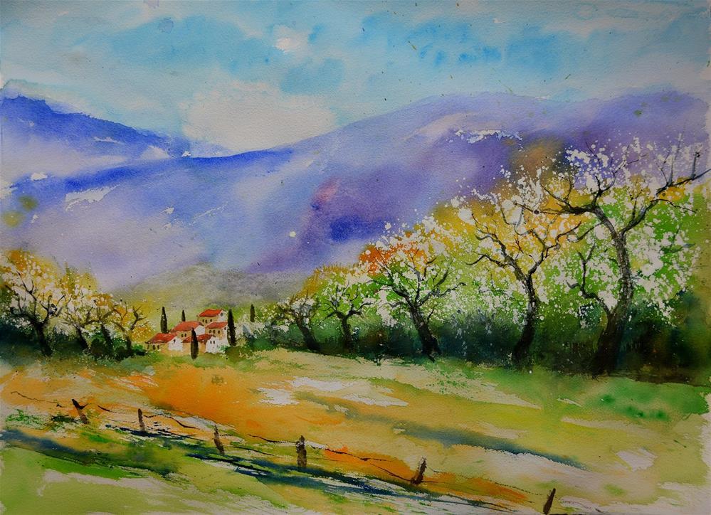 """""""tuscan spring"""" original fine art by Pol Ledent"""