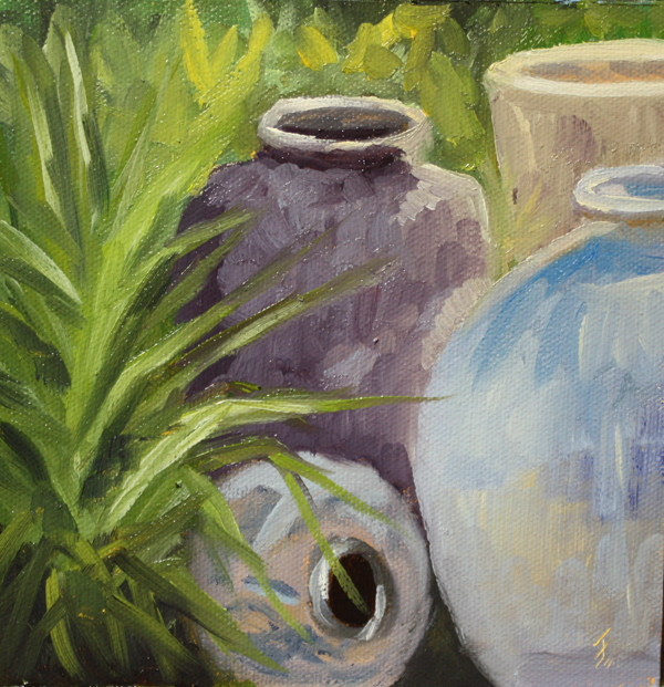 """Pots, Pots, Pots."" original fine art by Jane Frederick"